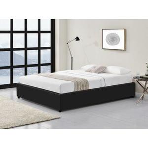 Atelier Mundo SJ-429 - Cadre de lit avec coffre de rangement en simili