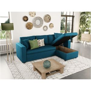 Atelier Mundo SJ-344 - Reversible corner sofa, fabric sofa bed with storage box