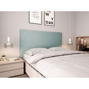Atelier Mundo SJ-585 - Tête de lit aspect quadrillé en tissu