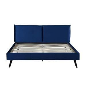Atelier Mundo SJ-559 - Cadre de lit avec tête de lit et sommier à lattes  en velours