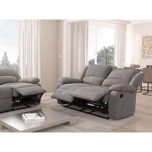 Atelier Mundo SA-261 - Canapé de relaxation manuel 2 places en microfibre