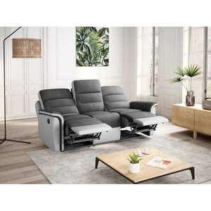 Atelier Mundo SA-345 - Canapé de relaxation manuel 3 places en simili et microfibre
