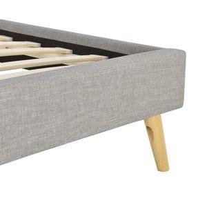 Atelier Mundo SA-365 - Cadre de lit scandinave avec tête de lit et sommier à lattes en tissu