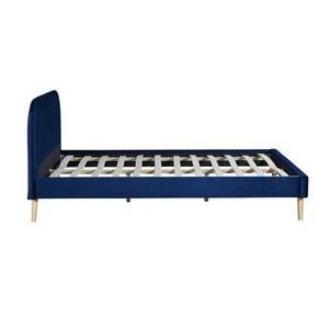 Atelier Mundo SA-366 - Cadre de lit scandinave avec tête de lit et sommier à lattes en velours
