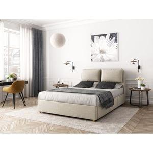 Atelier Mundo SA-368 - Cadre de lit avec coffre tiroir latéral en tissu