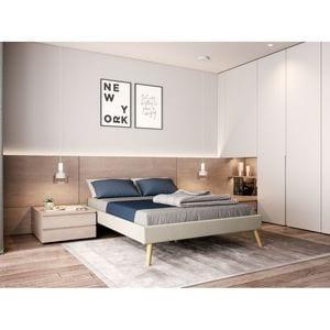 Atelier Mundo SA-381 - Cadre de lit en tissu