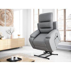 Atelier Mundo SA-427 - Fauteuil de relaxation éléctrique releveur massant chauffant en tissu