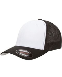 Yupoong 6511W - Flexfit Trucker Mesh with White Front Panels Cap
