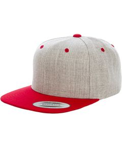 Yupoong 6089MT - Adult 6-Panel Structured Flat Visor Classic Two-Tone Snapback