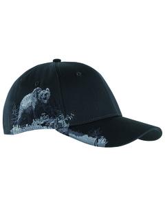 Dri Duck DI3319 - Brushed Cotton Twill Grizzly Bear Cap