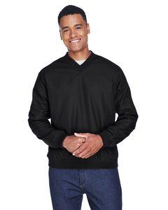 UltraClub 8926 - Adult Long-Sleeve Microfiber Crossover V-Neck Wind Shirt