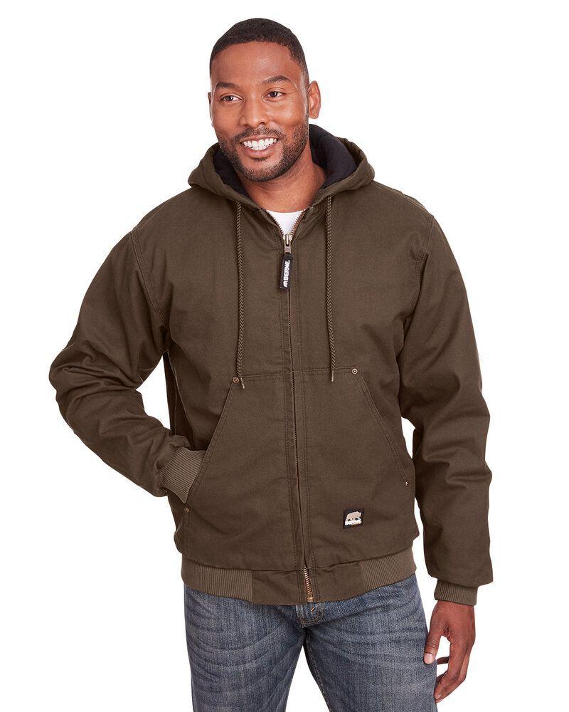 Berne HJ375 - Veste à capuche en canard de coton lavé Highland pour homme