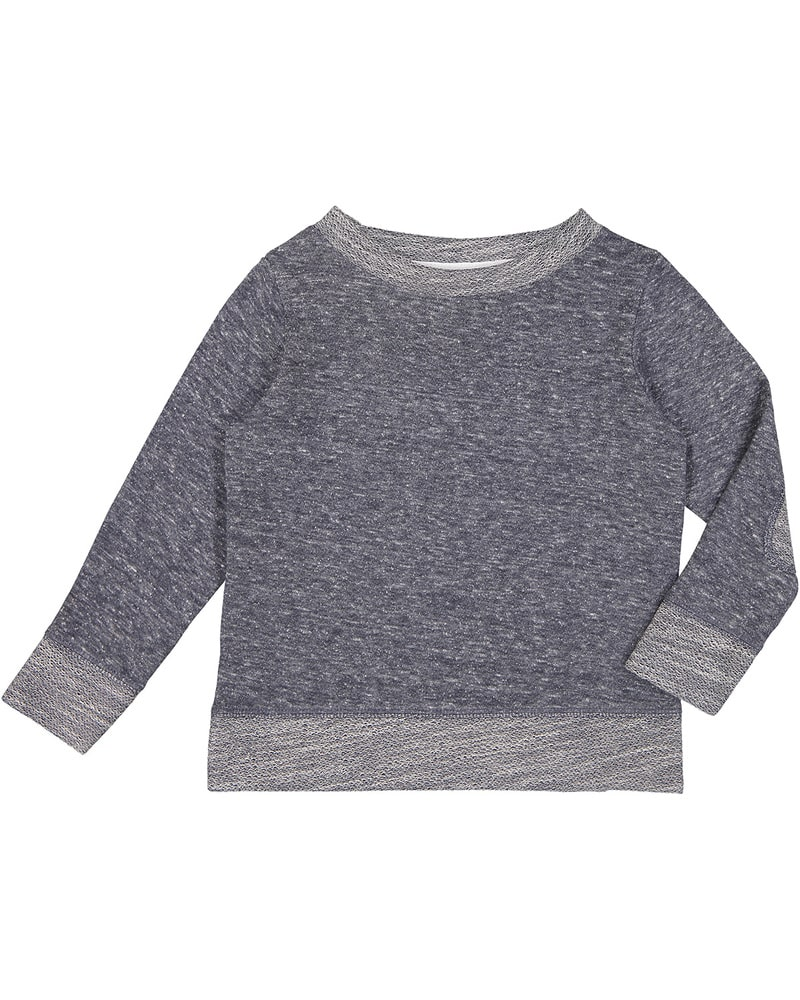 Rabbit Skins RS3379 - Toddler Harborside Melange French Terry Crewneck with Elbow Patches