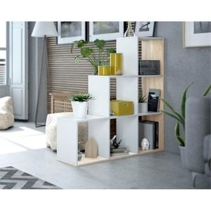 Atelier Mundo SA-503 - Bibliothèque escalier 6 cases L108 x H110 cm