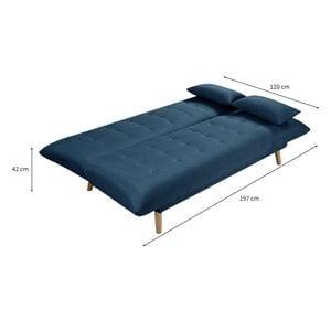 Atelier Mundo SA-419 - Banquette 2 places  convertible méridienne et coté relevable en tissu