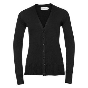 Russell Collection R715F - Knitted V Neck Cardigan Ladies