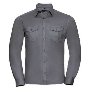 Russell Collection R918M - Roll Sleeve L/S Shirt Mens