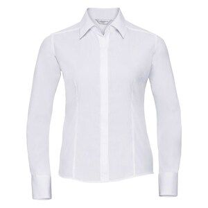 Russell Collection R924F - Poplin Easy Care Fitted L/S Shirt Ladies