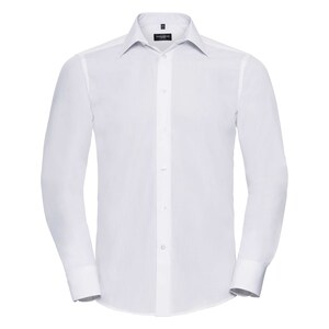 Russell Collection R924M - Poplin Easy Care Tailored L/S Shirt Mens