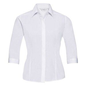 Russell Collection R926F - Poplin Easy Care Fitted 3/4 Sleeve Shirt L