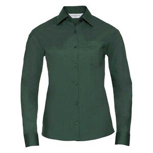 Russell Collection R934F - Ladies Poplin Shirts L/S 110gm