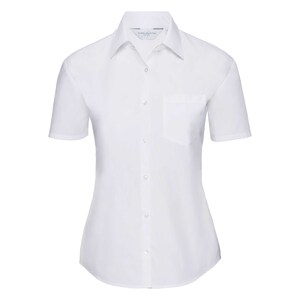 Russell Collection R935F - Ladies Poplin Shirts S/S 110gm