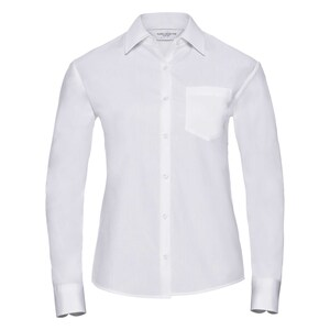 Russell Collection R936F - Poplin Easy Care Pure Cotton L/S Shirt Lad