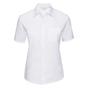 Russell Collection R937F - Poplin Easy Care Pure Cotton S/S Shirt Lad