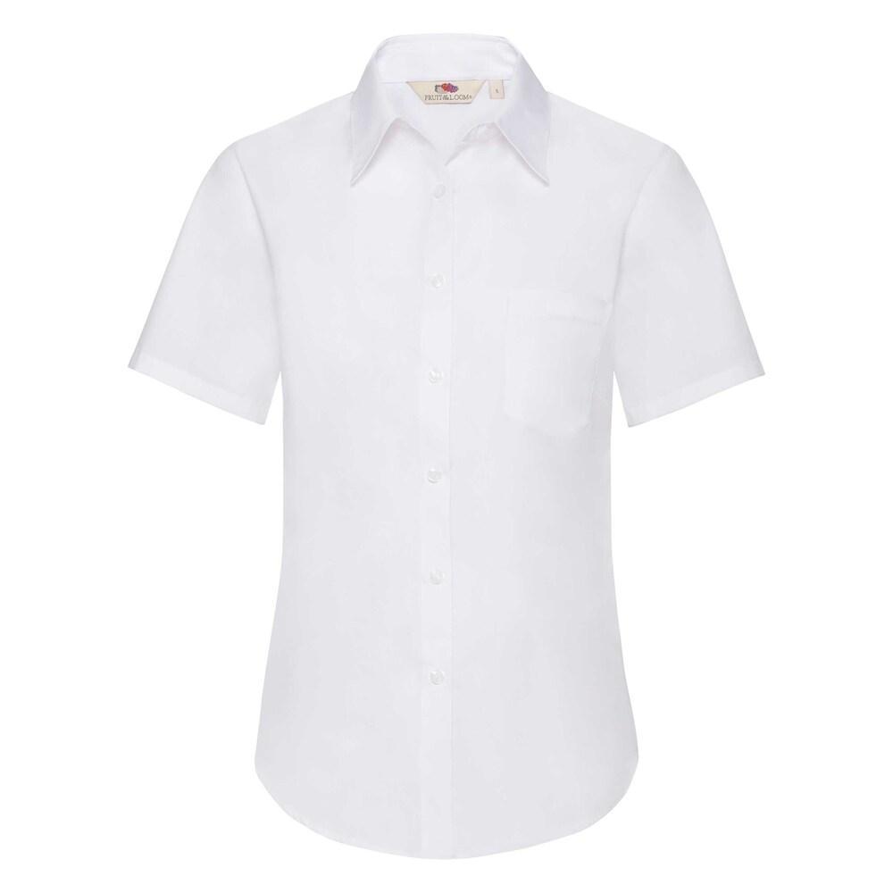 Fruit Of The Loom F65014 - Ladies S/S Poplin Shirt