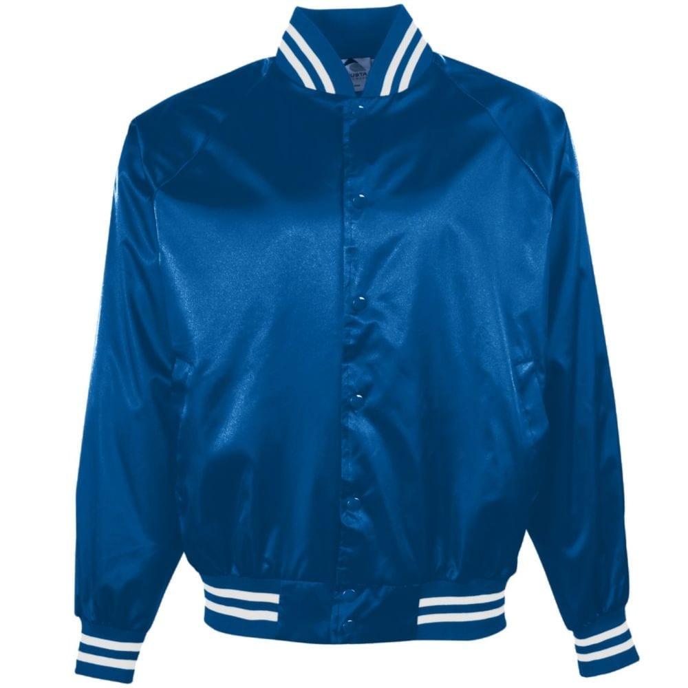 Augusta Sportswear 3611 - Youth Satin Baseball Jacket/Striped Trim