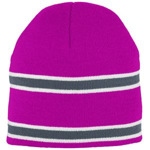 Augusta Sportswear 6825 - Striped Knit Beanie