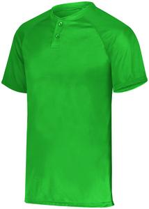 Augusta Sportswear 1565 - Attain Wicking Two Button Baseball Jersey