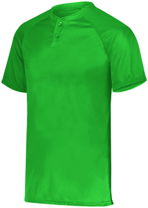 Augusta Sportswear 1565 - Attain Wicking Two Button Baseball Jersey