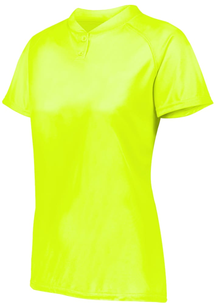 Augusta Sportswear 1567 - Ladies Attain Wicking Two Button Softball Jersey