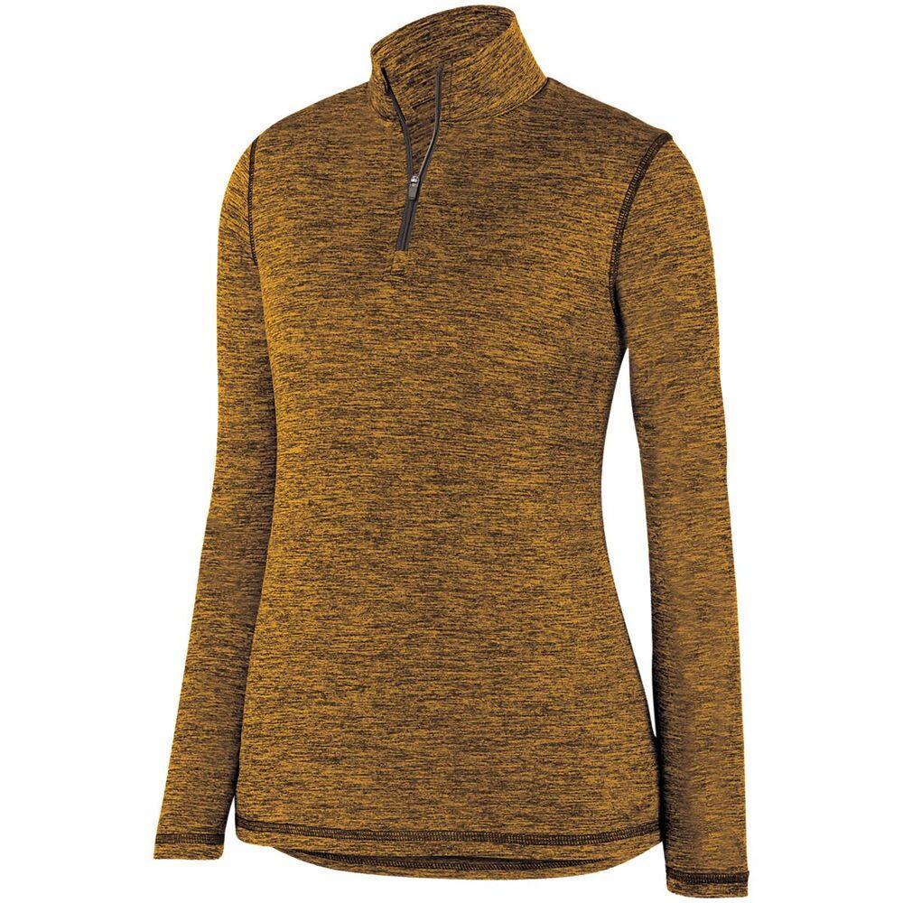 Augusta Sportswear 2957 - Ladies Intensify Black Heather 1/4 Zip Pullover