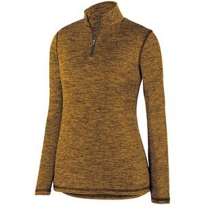 Augusta Sportswear 2957 - Ladies Intensify Black Heather 1/4 Zip Pullover