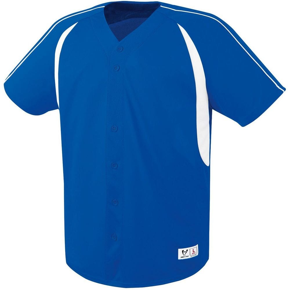 HighFive 312080 - Adult Impact Full Button Jersey