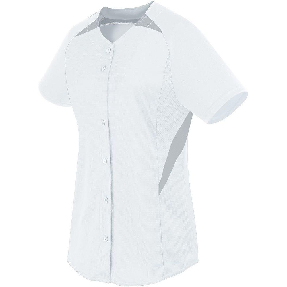 HighFive 312173 - Girls Galaxy Full Button Jersey