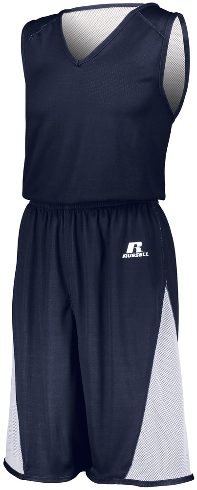 Russell 5R8DLM - Undivided Solid Single Ply Reversible Shorts