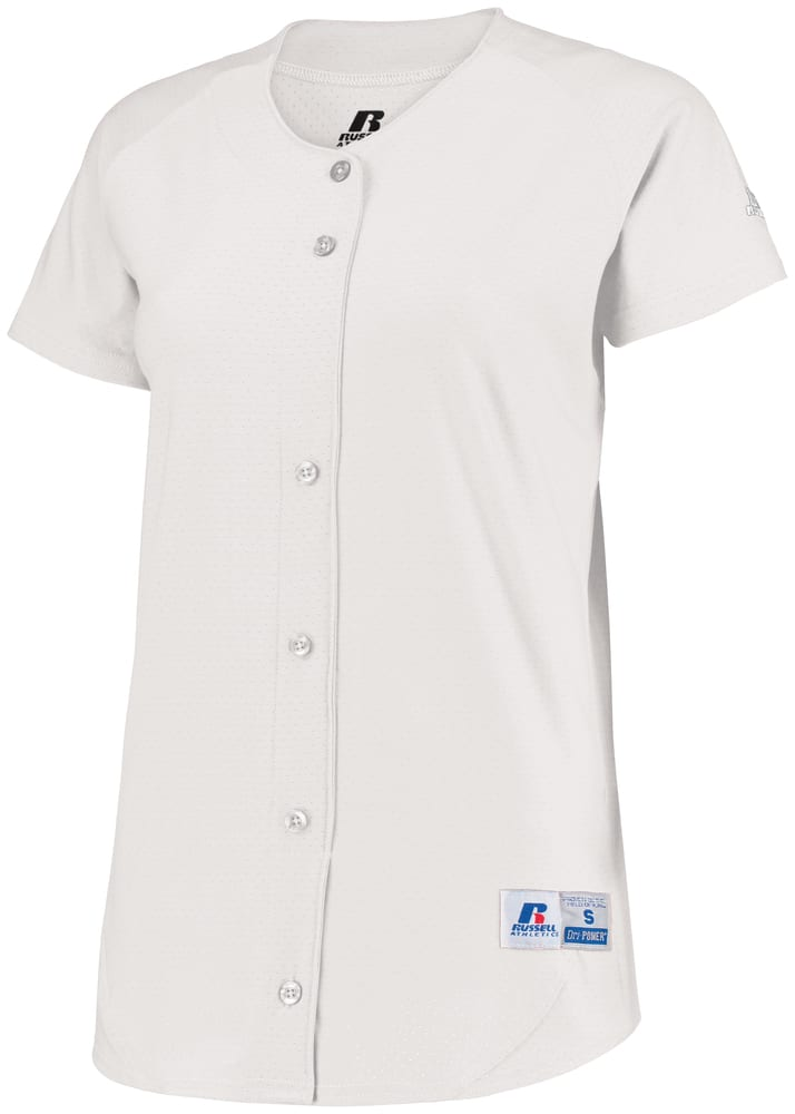 Russell 737VTX - Ladies Stretch Faux Button Jersey