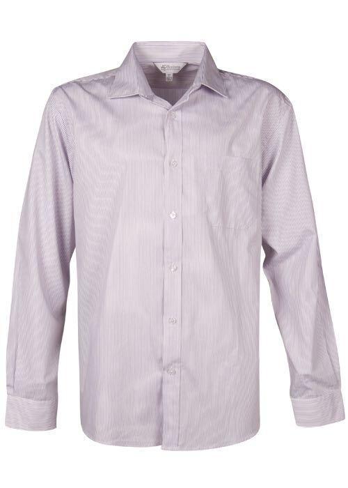 Aussie Pacific 1900L -  Henley Striped Long Sleeve Shirt