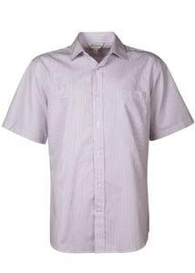Aussie Pacific 1900S -  Henley Striped Short Sleeve Shirt