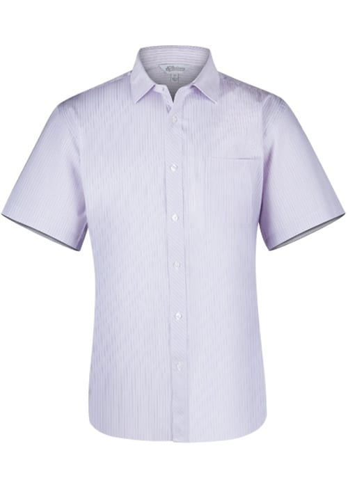 Aussie Pacific 1906S -  Bayview Wide Stripe Short Sleeve Shirt