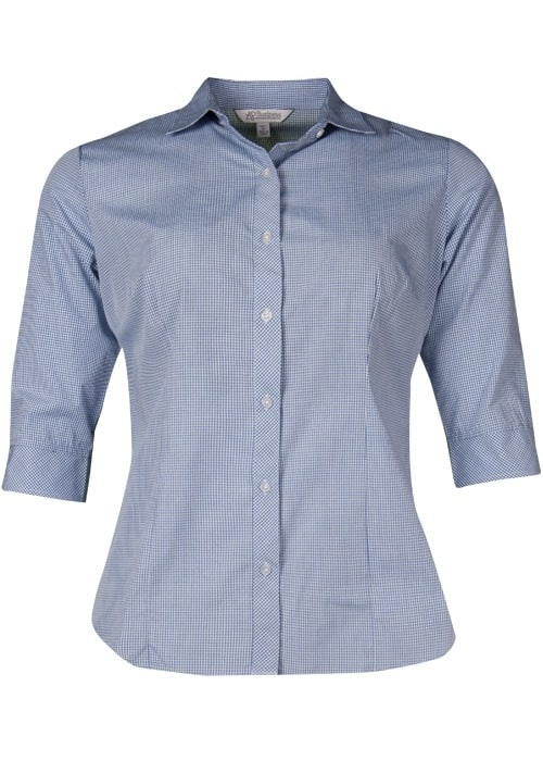 Aussie Pacific 2901T -  Toorak Check 3/4 Sleeve Shirt