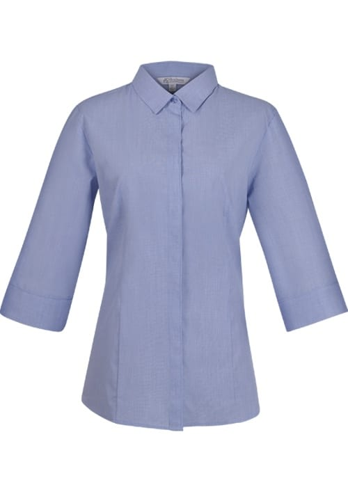 Aussie Pacific 2902T -  Grange MiTong Check 3/4 Sleeve Shirt