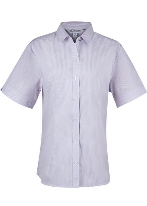 Aussie Pacific 2906S -  Bayview Wide Stripe Short Sleeve Shirt