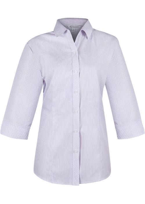 Aussie Pacific 2906T -  Bayview Wide Stripe 3/4 Sleeve Shirt