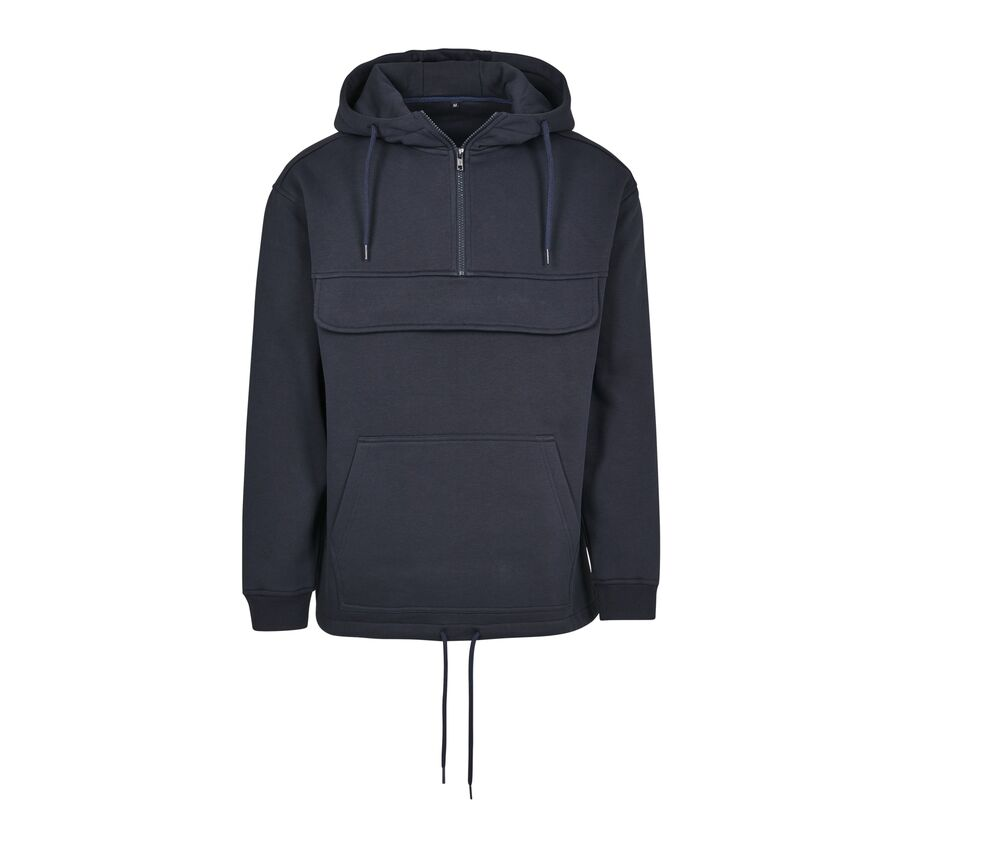 Build Your Brand BY098C - Hooded man Hooded zip neck