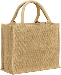 UBAG Vail - Mini glittering lurex jute bag with round handles