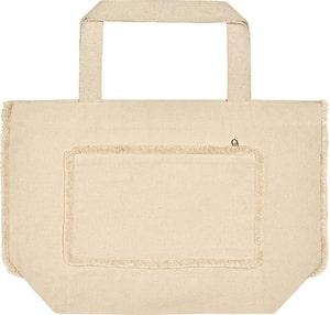 UBAG Tahiti - Zipped t bottom beach bag with front zipped fringe pocket